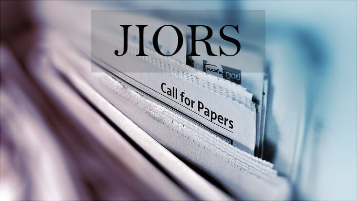JIORS Call for Papers Vol 2 - Issue 1 - March 2019
