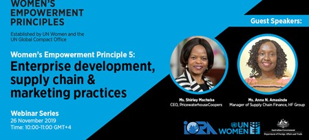 Upcoming Webinar on the Women's Empowerment Principles (WEPs) in the Indian Ocean Rim region
