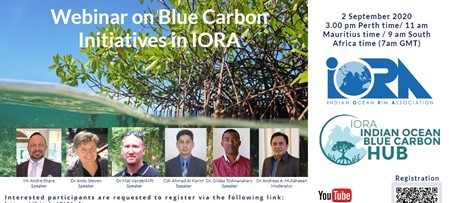 Webinar on Blue Carbon Initiatives in IORA