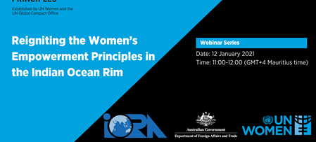 Upcoming Webinar: Reigniting the Women's Empowerment Principles in the Indian Ocean Rim