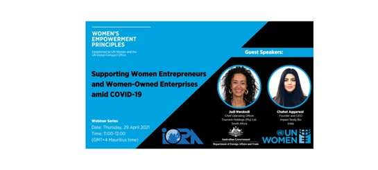 Upcoming Webinar: Supporting women entrepreneurs and women-owned businesses amid COVID-19